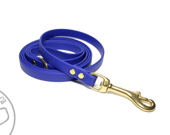 """Royal Blue Small Dog Leash - 1/2"""" (12mm) wide Biothane Leash - Choice of: 4ft, 5ft, 6ft (1.2m, 1.5m, 1.8m) and Hardware Type - Thin Dog Lead"""