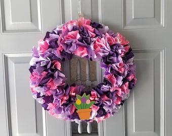 Front Door Spring Wreath, Front Door Spring Decor, Spring Wreath for Front Door, Tulip Wreath, Elegant Wreath, Indoor Wreath, Mantel Decor