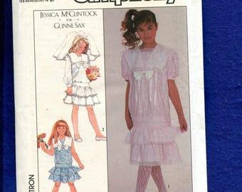 Vintage 1980's Simplicity 8704 Gunne Sax Turn of the Century Drop Waist Dresses  Size 8..10..12
