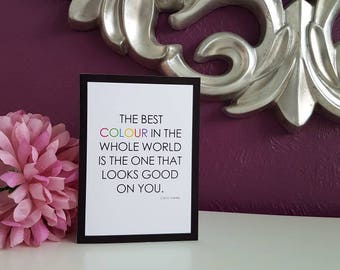 "Colour - Coco Chanel 5x7"" Blank Card"
