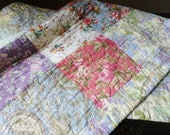 Patchwork Floral King Size Pillow Sham, Patchwork Quilt Style Padded Sham