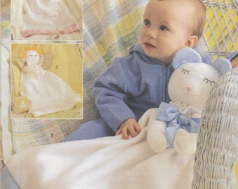 Baby Blanket Cuddle Toy Pattern Butterick 3231 Uncut