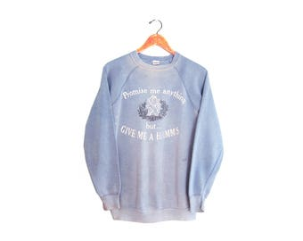 vintage sweatshirt / Hamms Beer / Champion sweatshirt / 1970s light blue Hamms Beer sweatshirt Large