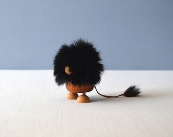 Vintage Danish Modern Teak Troll Figurine
