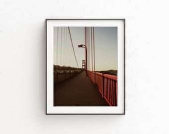 Golden Gate Bridge San Francisco | printable art | travel photography | sf city prints | urban photography | retro style digital download