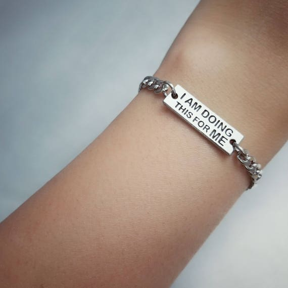I Am Doing This for Me Bracelet - Nickel Free Fitness Jewelry - Motivational Jewelry - Fitness Journey - Weight Loss - Gym Accessories