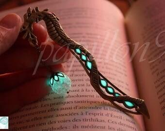 DRAGON Bookmark / Glow in the Dark / Bookmark Glow in the Dark / Luminous Bookmark /