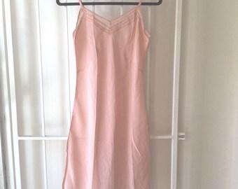 50s pink slip dress xs/s / vintage lingerie slip / vintage slipdress / vintage mini dress