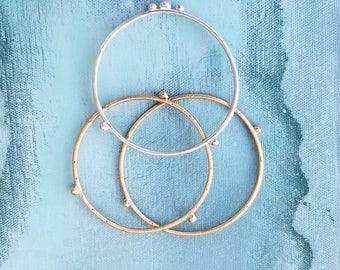 Reyna Bangles // Embellished Sterling Silver Bracelet