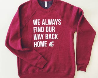 WSU Cougars Way Back Home - Unisex Crew Neck