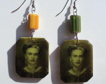 Handmade Frida Kahlo - earrings