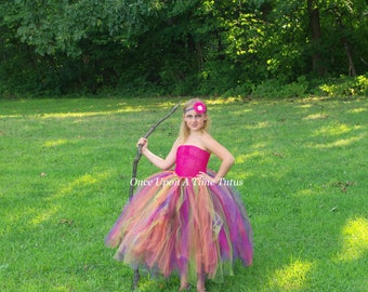 Diva Rock Witch Tutu Dress - Birthday Outfit, Photo Prop, Halloween Costume - Girls Size 2T 3T 4T 5 6 7 8 10 12 - Little Girls Punk Dress
