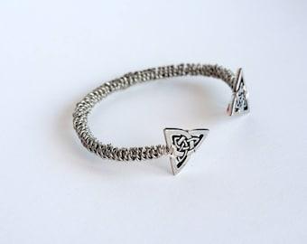 Viking torc bracelet ~ Celtic Knot Trinity