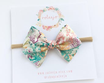 Tana Lawn Reef Sailor Bow; Baby Girl, Toddler, Girl Hair Accessories; Liberty of London 2017