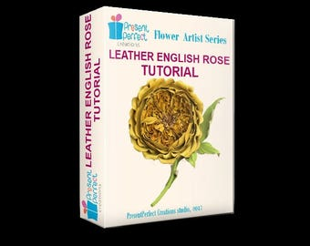 Leather English rose tutorial, leather rose template, leather flower instructions, rose tutorial, leather flower tutorial, millinery tools