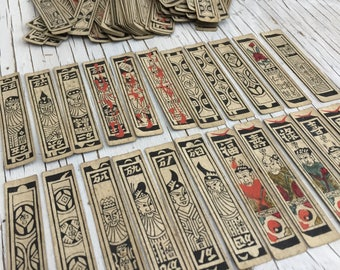 Vintage Chinese playing cards. Beautiful set of 132 Money cards. For collage, art journalling, etc.