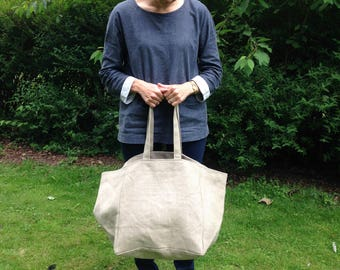 Natural Linen Holiday Beach Travel Bag