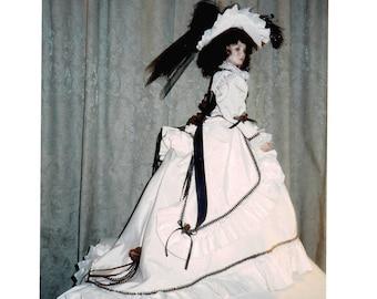 Victorian Doll Dress Pattern Walking Dress & Fancy Hat for 26 inch fashion doll by Sharon's designs UNCUT UNUSED