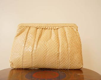 Vintage 1980s Palizzio Snakeskin Purse/ 1980s Purse/ Crossbody Bag/ Reptile Bag/ Vintage Purse/ Vintage Handbag/ Retro Purse/ Rockabilly