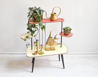 Indoor plant stand, modern plant stand, mid century modern plant holder, tiered plant stand, 3 tier plant stand, vintage plant stand
