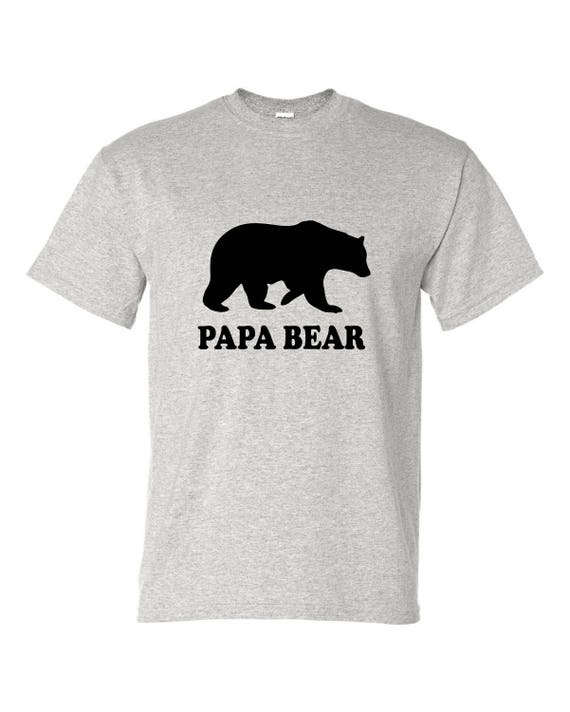 Gift for Dad Papa Bear T-shirt men's funny t-shirt, Gift for Fathers day, Christmas gift for Dad, Birthday gift for dad, t shirt with saying