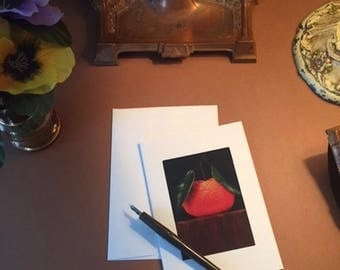 Notecards ACEO Art Tangerine Print Six Photo Pocket Blank Note Cards