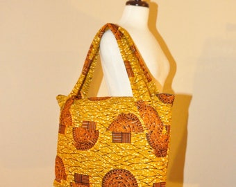 Handmade African Print Diaper Bag