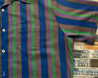 Slomann's - Koratron -Striped Mens Retro Shirt