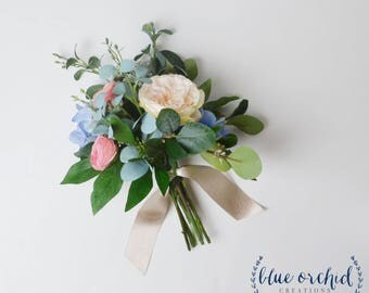 Wedding Flowers, Bridesmaid Bouquet,Boho Bouquet, Bridesmaid Bouquet Set, Silk Bouquet, Wildflower Bouquet Set, Eucalyptus, Greenery