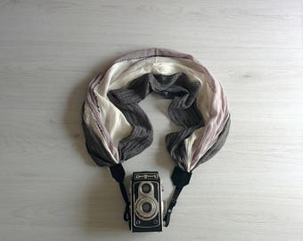 Scarf camera strap Camera scarf strap Moonlight camera strap Camera strap scarf DSRL camera strap Black camera strap Camera accessories