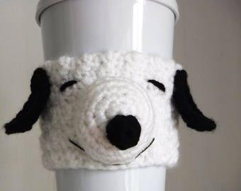 Crochet Snoopy Coffee Cup Cozy