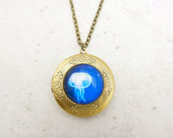 Jellyfish Necklace, Jellyfish locket, 2020m