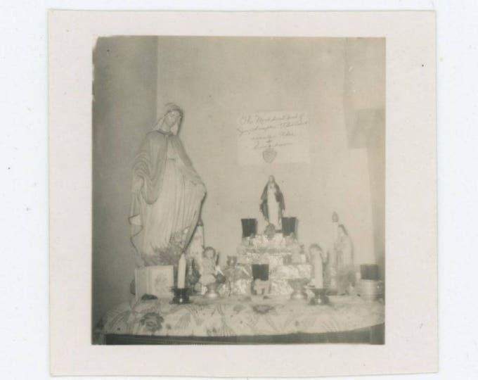 Catholic Shrine: Vintage Snapshot Photo (75584)