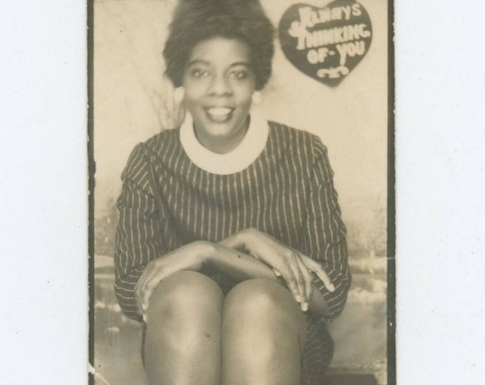 "Vintage Enlarged Arcade Photo Booth: ""Always Thinking of You"" c1950s-60s  (712631)"