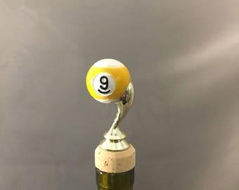 Billiards Wine Stopper, Billiards Gift,Pool Player,Wine Gifts,Pool Ball, Gift for pool player, Snooker, Pool League, Pool Hall, Game Room