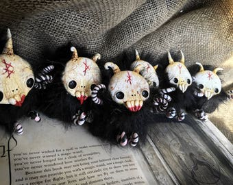Gloombles // rune horror spooky creature doll art designer creepy cute fluffy monster