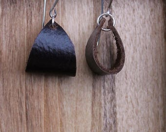 Everyday Leather Hoop Earrings