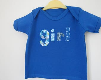 Blue Girl t-shirt - Girl Power T-shirt - Kids Feminist t-shirt - Girls Run the World