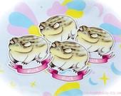 F*ck Frog Grumpy Desert Rain Frog Matte or Holographic Sparkly Star Vinyl Pastel Sticker