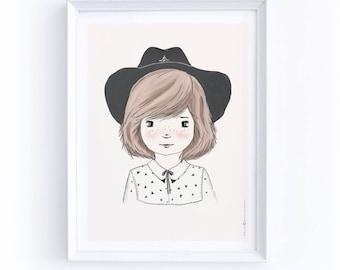 Cowgirl Art, Cowgirl Print, Wild West Decor, Wild West Wall Hanging, Western Decor, Kids Room Wall Art, Nursery Decor, Western Theme