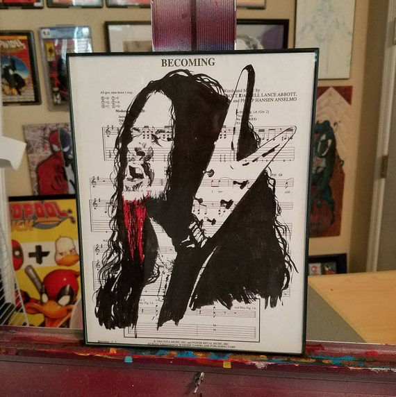 Dimebag Darrell Limited Title Page Giclée