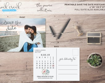 The Sonora Collection Full Photo Calendar Printable Save The Date Card