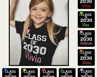 Class of 2030 shirt - Class of 2029 shirt - Class of 2028 shirt- Class of 2031 shirt - Kids Kindergarten shirt -Choose Year Choose Color