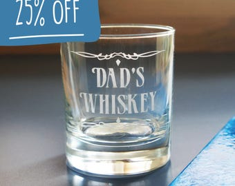 Personalised Whiskey glass | Hand Engraved Whisky Tumbler Glass Valentine's Day gift for dad, gifts for dad, gifts for him, whisky glasses