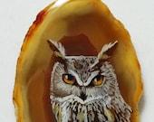 Eagle Owl Agate Pendant