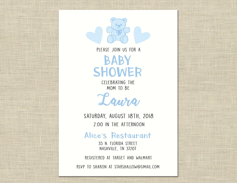 Baby Shower Invitation custom printable, baby shower, celebration ...