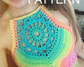 Crochet Pattern - Sunburst Crop Top