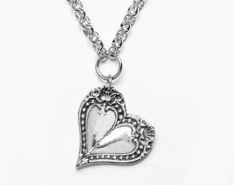 """Spoon Necklace: """"Monterey Heart"""" by Silver Spoon Jewelry"""