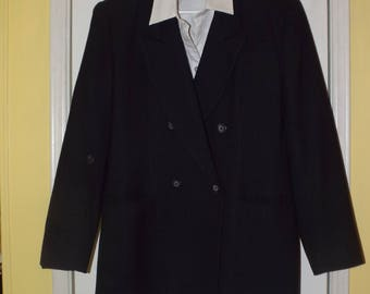 Dark Charcoal Gray Suit by Evan Picone Women's Vintage 3 Piece Fall Fashion