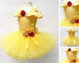 YELLOW BELL DRESS, Tutu Princess Costume, Girls Halloween Costume, Beauty, Gold, Children, Infant, Baby, Child, Kids